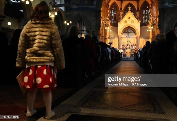 A general view of the service by Cardinal Keith O'Brien during his Easter Sunday Homily at St Mary's Cathedral Edinburgh The head of the Church in...