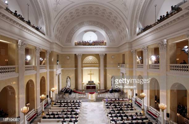 General view of the service to celebrate Queen Margrethe II of Denmark's 40 years on the throne at Christiansborg Palace Chapel on January 15 2012 in...