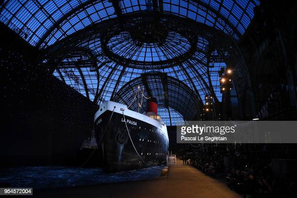 General view of the set during the Chanel Cruise 2018/2019 Collection at Le Grand Palais on May 3 2018 in Paris France