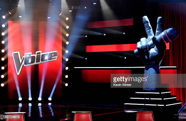 A general view of the set is shown at a press junket for NBC's The Voice at Sony Studios on October 28 2011 in Culver City California