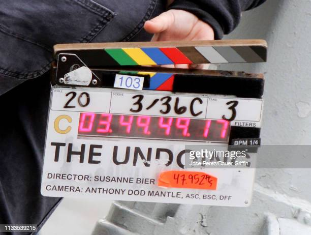 General view of the set of 'The Undoing' on March 29, 2019 in New York City.