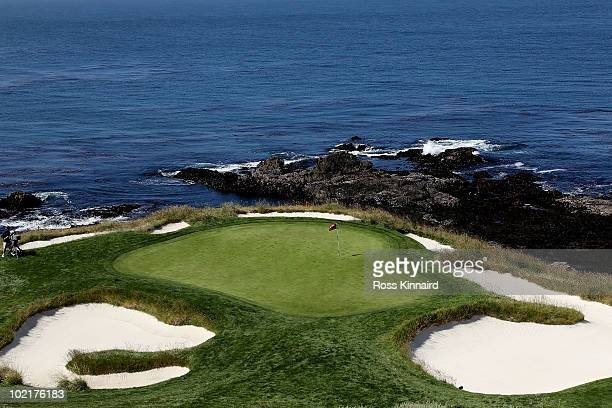A general view of the seventh green is seen during the first round of the 110th US Open at Pebble Beach Golf Links on June 17 2010 in Pebble Beach...