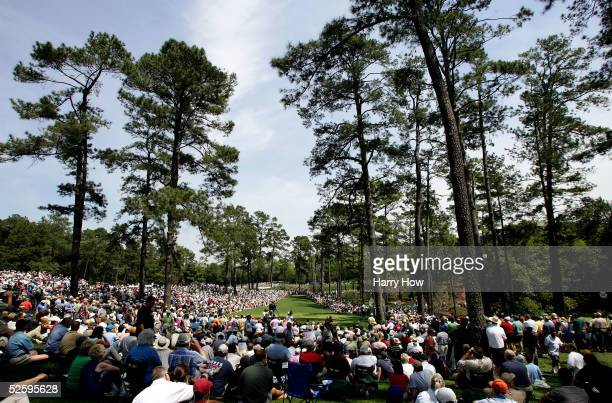 A general view of the seventh hole at the Augusta National Golf Club during the practice session on April 6 2005 in Augusta Georgia