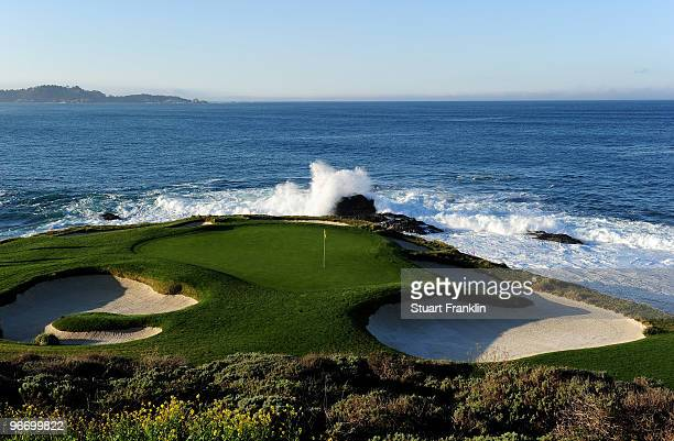 General view of the seventh hole before the final round of the AT&T Pebble Beach National Pro-Am at Pebble Beach Golf Links on February 14, 2010 in...