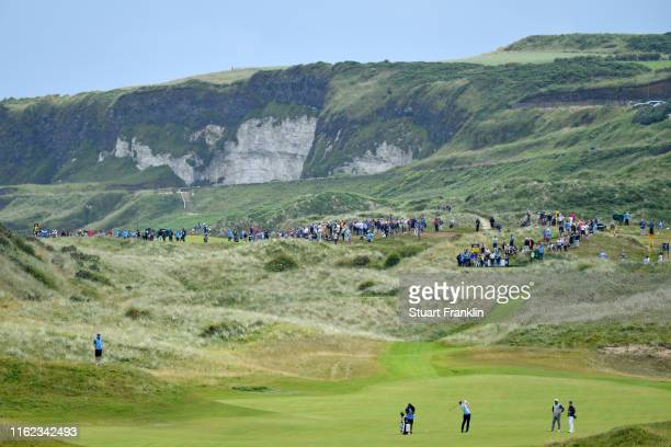 General view of the seventh hole during a practice round prior to the 148th Open Championship held on the Dunluce Links at Royal Portrush Golf Club...