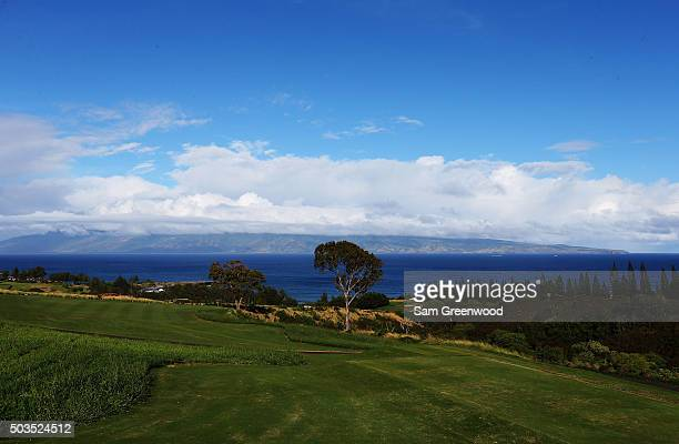 A general view of the seventh hole during practice rounds prior to the Hyundai Tournament of Champions at the Plantation Course at Kapalua Golf Club...
