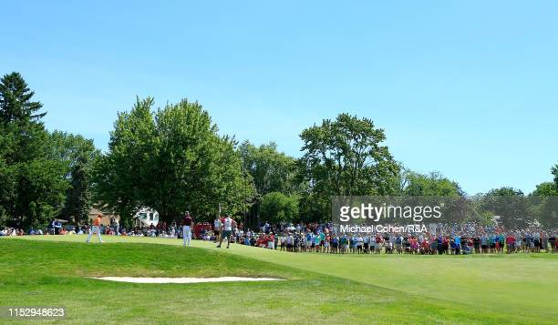 General view of the seventh hole during The Open Qualifying Series, part of the Rocket Mortgage Classic at Detroit Golf Club on June 30, 2019 in...