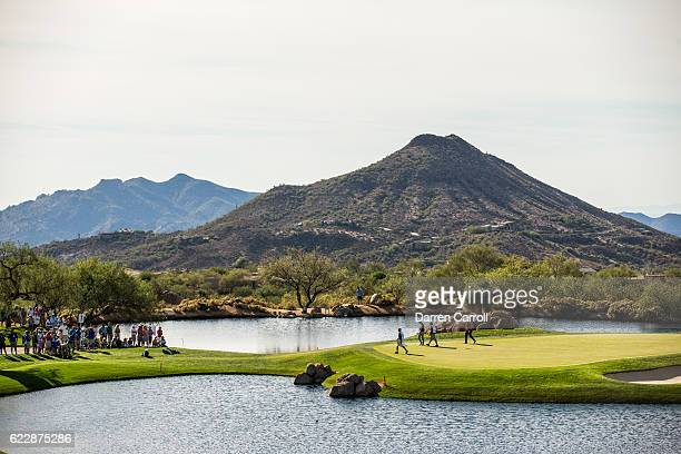 General view of the seventh hole during the second round of the Charles Schwab Cup Championship on the Cochise Course at Desert Mountain on November...