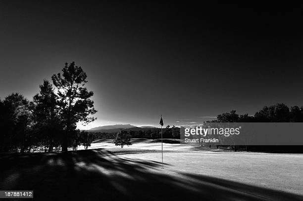 A general view of the seventh hole during the third round at PGA Catalunya Resort on November 13 2013 in Girona Spain