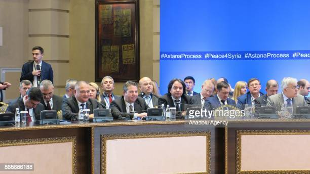 General view of the seventh round of Astana talks on Syria in Astana Kazakhstan on October 31 2017