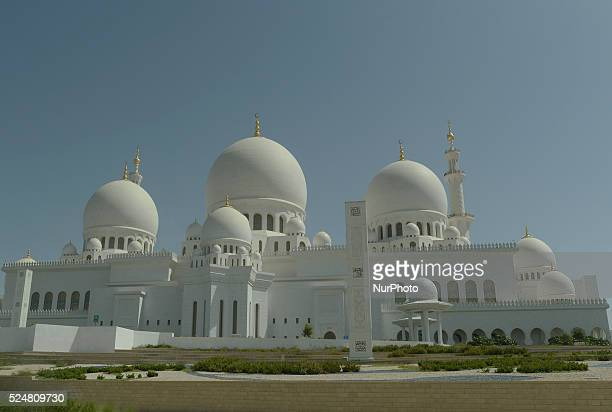 A general view of the Sheikh Zayed Grand Mosque located in the capital city and considered to be the key for worship in the United Arab Emirate Abu...