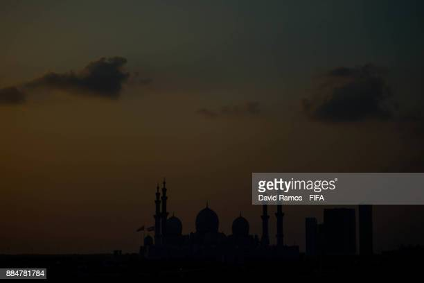 A general view of the Sheikh Zayed Mosque on December 3 2017 in Abu Dhabi United Arab Emirates
