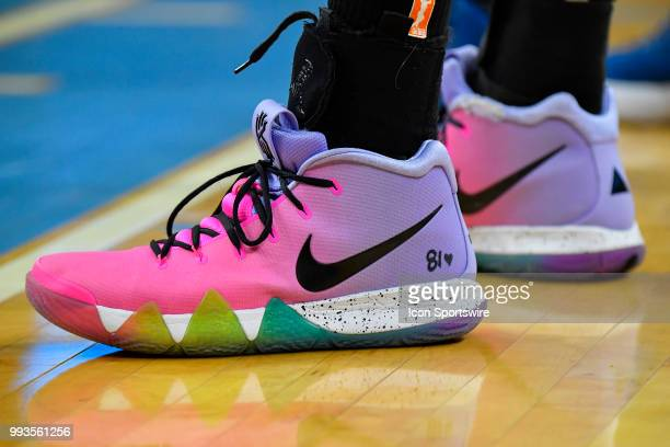A general view of the shoes worn by Chicago Sky center Alaina Coates during the game against the Minnesota Lynx on July 7 2018 at the Wintrust Arena...