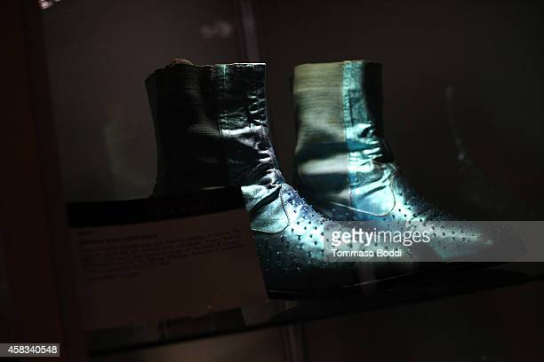A general view of the shoes worn by Liberace at the Julien's auctions media preview for Icons Idols Rock N' Roll event held at Juliens Auctions on...