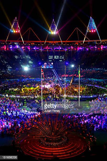 A general view of the show during the closing ceremony on day 11 of the London 2012 Paralympic Games at Olympic Stadium on September 9 2012 in London...
