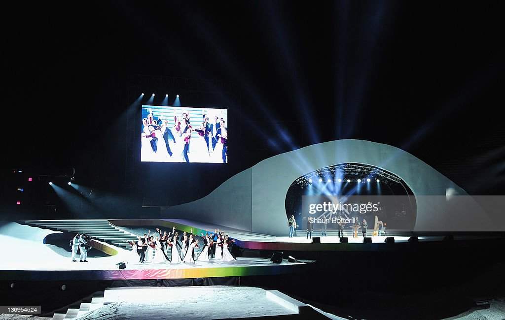 a general view of the show during the winter youth olympic. Black Bedroom Furniture Sets. Home Design Ideas