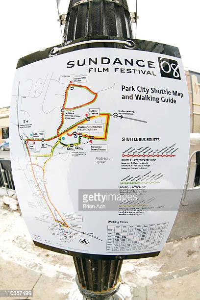 General view of the shuttle map at the 2008 Sundance Film Festival on January 17 2008 in Park City Utah