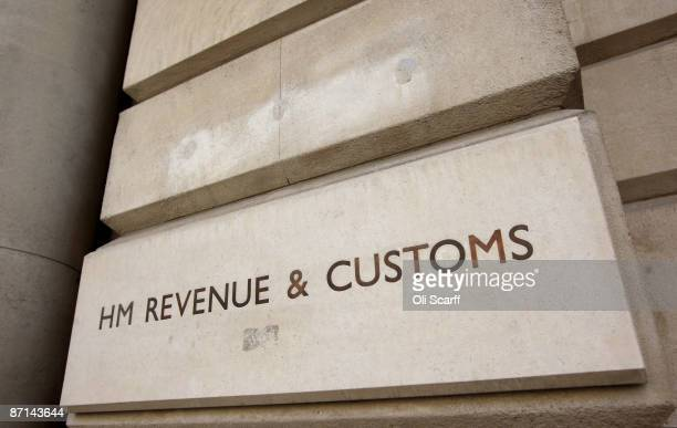 A general view of the sign for the Government department of 'HM Revenue and Customs' in Westminster on May 8 2009 in London England