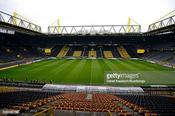 General view of the Signal Iduna Park prior to the Bundesliga match between Borussia Dortmund and SC Freiburg at Signal Iduna Park on September 13...