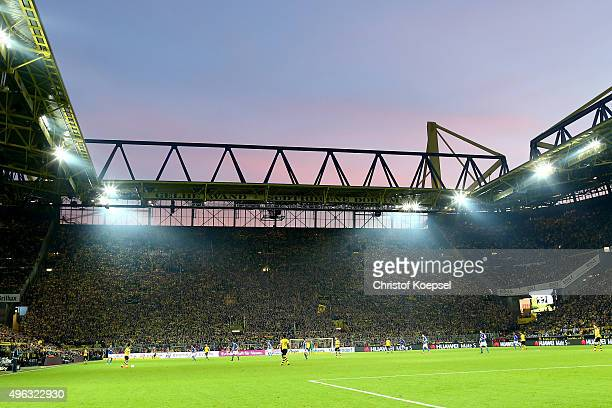 General view of the Signal Iduna Park prior to the Bundesliga match between Borussia Dortmund and FC Schalke 04 at Signal Iduna Park on November 8...