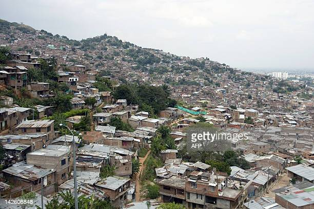General view of the Siloe neighborhood south west of Cali Valle del Cauca department Colombia on March 8 2012 Cali the third most important city of...