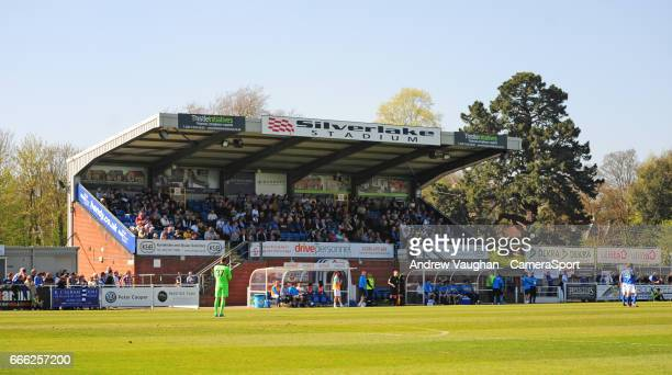 General view of the Silverlake Stadium, home of Eastleigh FC during the Vanarama National League match between Eastleigh and Lincoln City at...