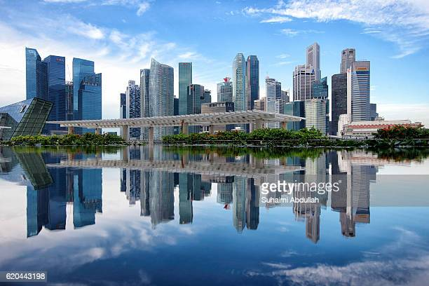 A general view of the Singapore Central Business District skyline on November 2 2016 in Singapore