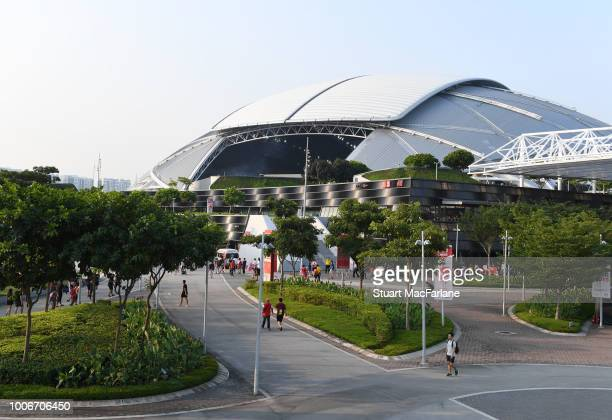 A general view of the Singapore National Stadium the International Champions Cup match between Arsenal and Paris Saint Germain on July 28 2018 in...