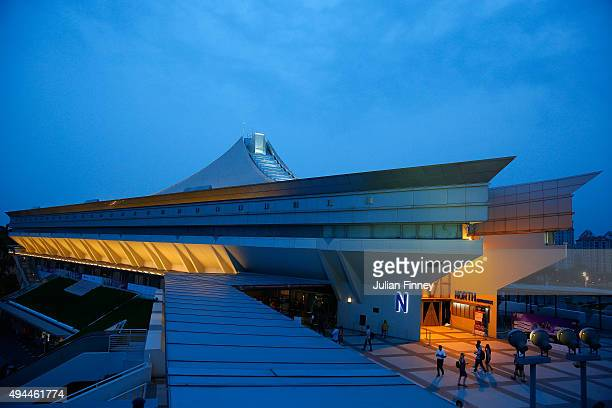 A general view of the Singapore Sports Hub during the BNP Paribas WTA Finals on October 27 2015 in Singapore