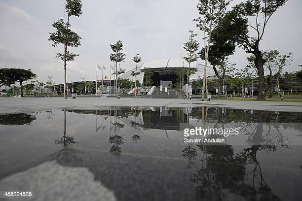 A general view of the Singapore Sports Hub with the National Stadium in the background on November 01 2014 in Singapore Another of the Sports Hub...