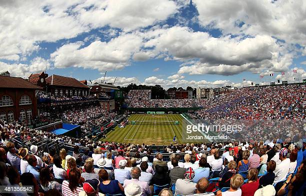 General view of the singles match between Andy Murray of Great Britain and Gilles Simon of France on during Day Three of The World Group Quarter...