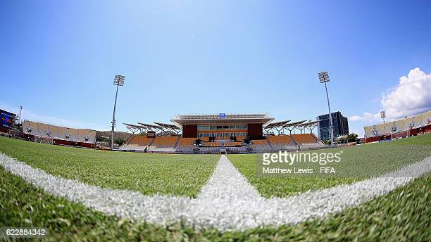 A general view of the Sir John Guise Stadium ahead of the FIFA U20 Women's World Cup Papua New Guinea 2016 Group A match between Sweden and Korea DPR...