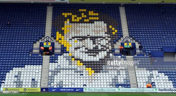 General view of the Sir Tom Finney stand at Deepdale home of Preston North End during the Sky Bet League One match between Preston North End and...