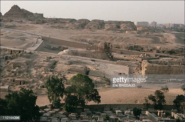 General view of the site in Cairo Egypt on May 01 1990