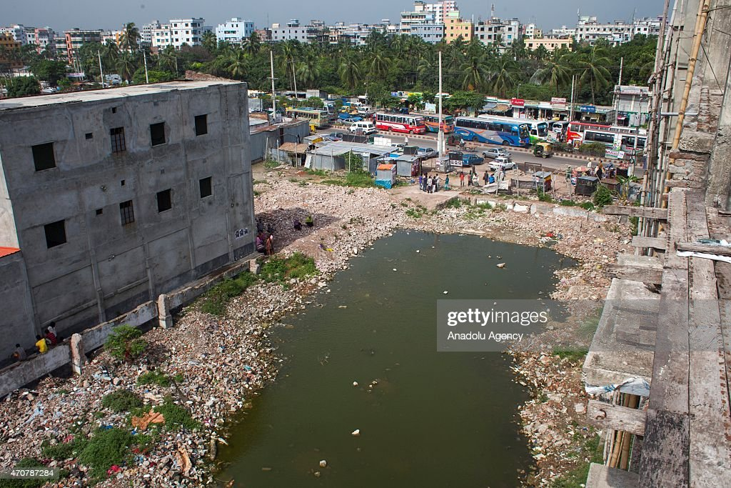 General view of the site of Rana building collapse is seen on the second-year anniversary of the incident at Savar in Dhaka, Bangladesh, on April 23, 2015.
