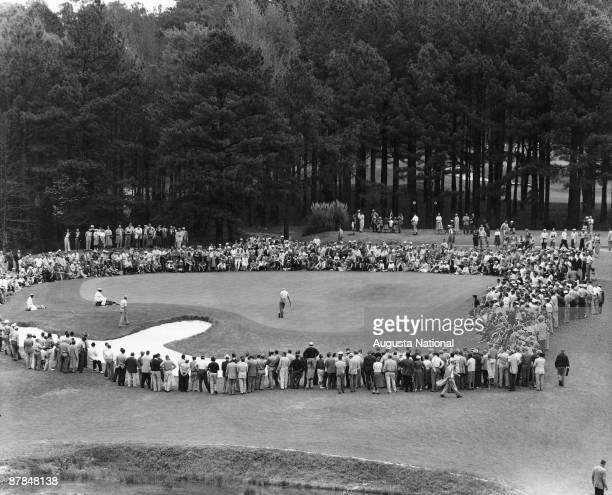 A general view of the sixth green during the 1948 Masters Tournament at Augusta National Golf Club in April 1948 in Augusta Georgia