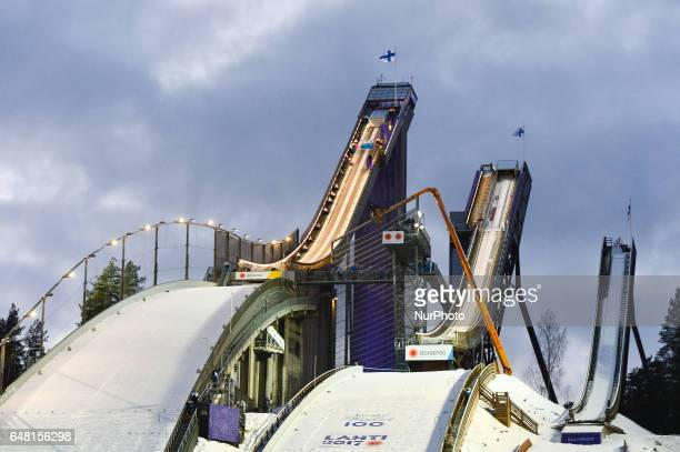 General view of the ski jumping site in Lahti, at FIS Nordic World Ski Championship 2017 in Lahti. On Saturday, March 4 in Lahti, Finland.