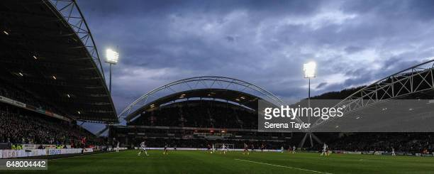 A general view of the Sky Bet Championship Match between Huddersfield Town and Newcastle United at John Smith's Stadium on March 4 2017 in...