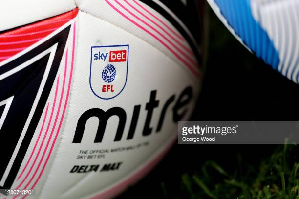 General view of the Sky Bet EFL official Mitre match ball ahead of the Sky Bet Championship match between Barnsley and Bristol City at Oakwell...