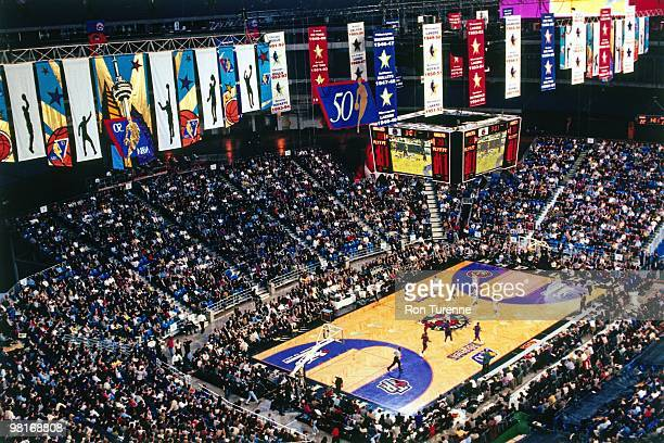 A general view of the Skydome during a Toronto Raptors game played in 1997 in Toronto Ontario NOTE TO USER User expressly acknowledges and agrees...