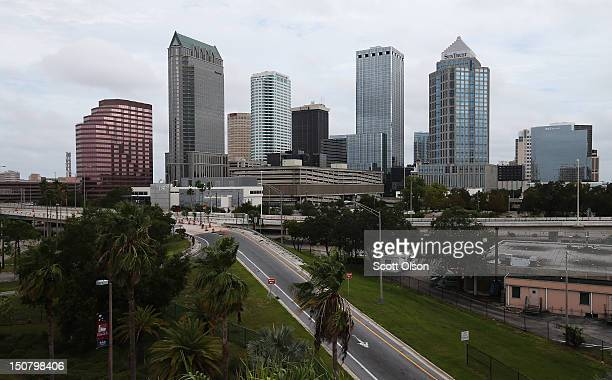 General view of the skyline ahead of the Republican National Convention being held at the Tampa Bay Times Forum on August 26, 2012 in Tampa, Florida....