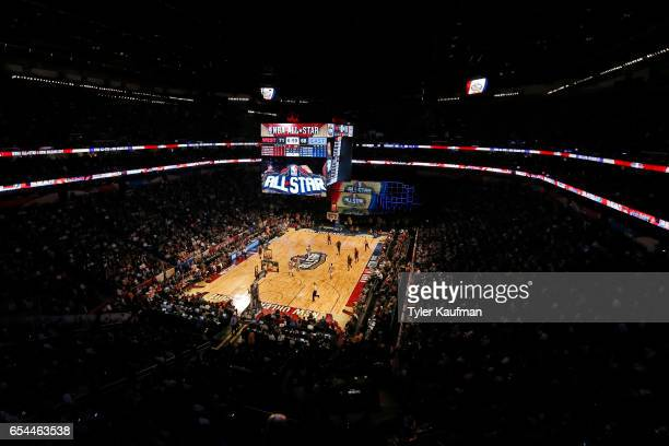 A general view of the Smoothie King Center during the NBA AllStar Game as part of 2017 AllStar Weekend on February 19 2017 in New Orleans Louisiana...