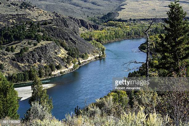 General view of the Snake River flows through Idaho near Victor west of Idaho Falls near the IdahoWyoming border