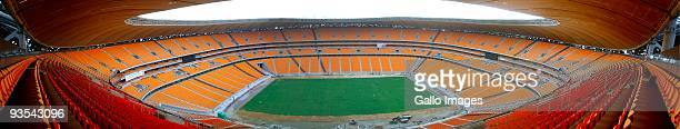 General view of The Soccer City Stadium on November 19, 2009 in Diepkloof near Nasrec, Johannesburg, South Africa. Soccer City is earmarked to host...