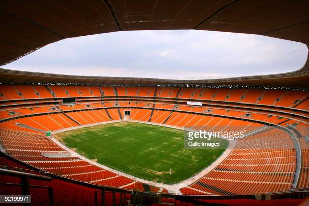 General view of the Soccer City Stadium on October 16, 2009 in Diepkloof, Johannesburg, South Africa.