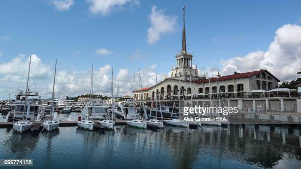 A general view of the Sochi Sea Port during the FIFA Confederations Cup Russia 2017 on June 22 2017 in Sochi Russia