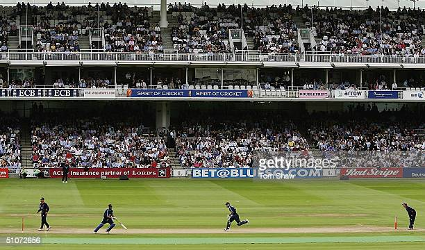 A general view of the sold out ground during the Middlesex v Surrey Twenty20 Cup match at Lords on July 15 2004 in London England