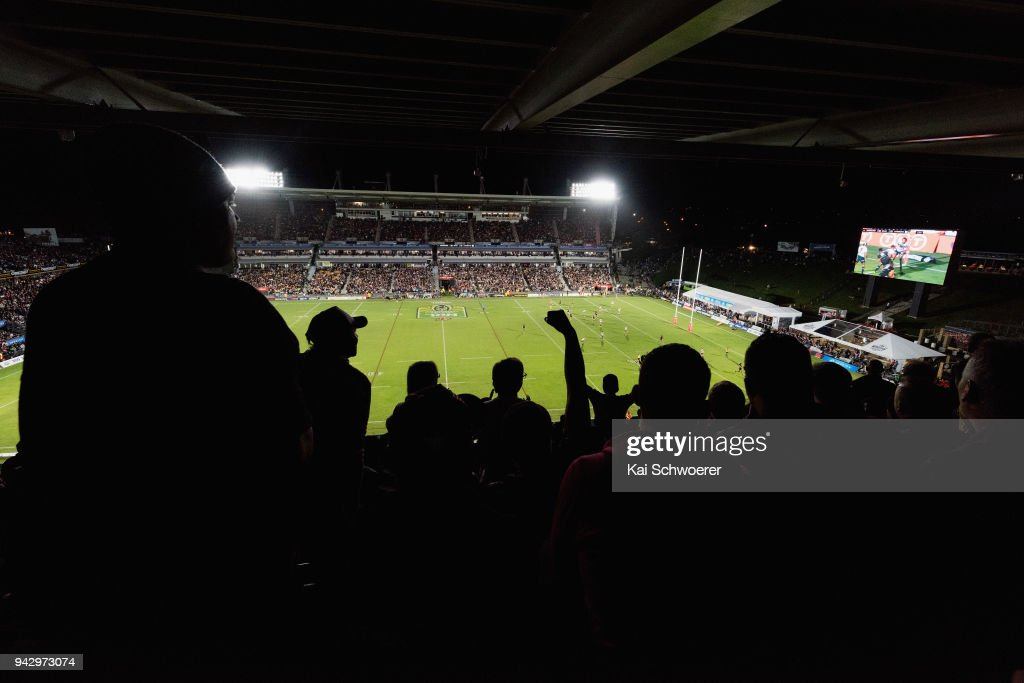 General view of the sold out Mt Smart Stadium during the round five NRL match between the New Zealand Warriors and the North Queensland Cowboys at Mt Smart Stadium on April 7, 2018 in Auckland, New Zealand.