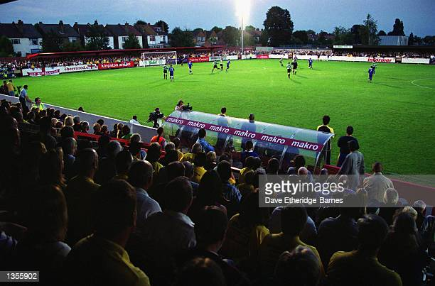 General view of the soldout Kingsmeadow Stadium during the Combined Counties League match between AFC Wimbledon and Chipstead at the Kingsmeadow...