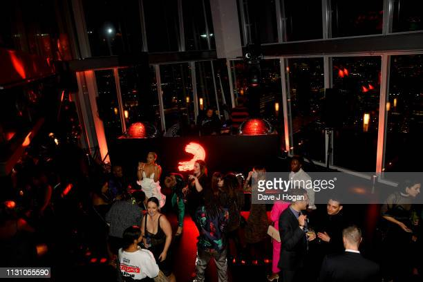 A general view of the Sony Music BRIT awards after party at aqua shard on February 20 2019 in London England